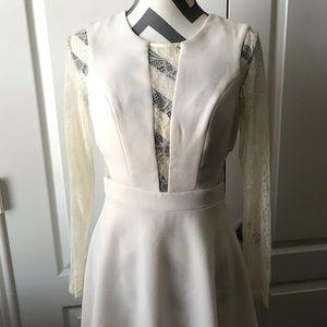 BCBG lace sleeve dress